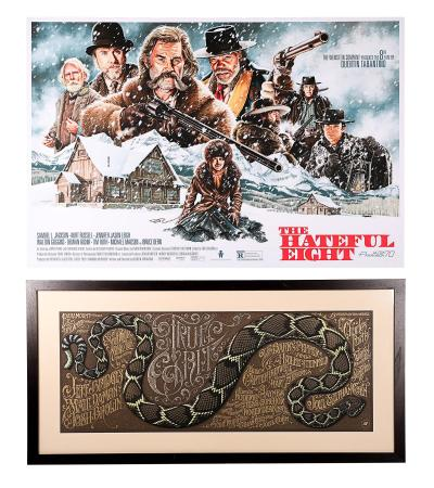 TRUE GRIT (2010) AND THE HATEFUL EIGHT (2016) - Two Mondo Posters