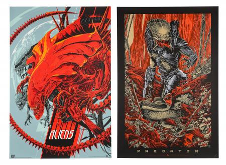 ALIENS (1986) AND PREDATOR (1987) - Two Mondo Posters
