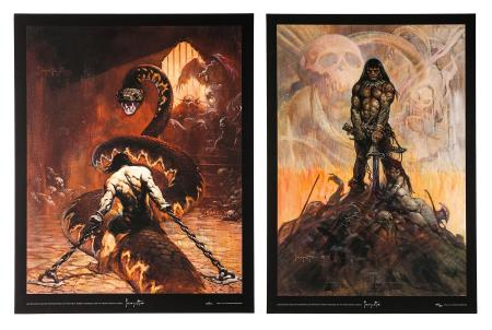 CONAN THE BARBARIAN (1982) - Two Robert Rodriguez Posters